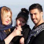 خسرو حیدری تولد همسرش را اینگونه تبریک گفت ؛ خسرو حیدری و همسر و دخترش روشنا