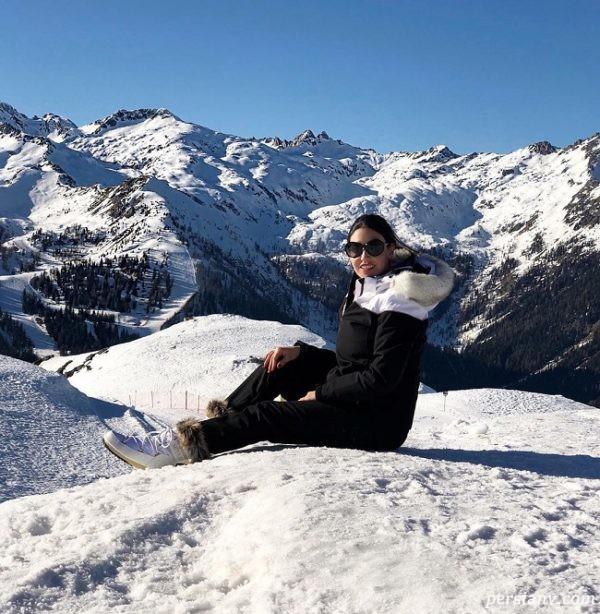 دلیلا استراما در پیست اسکی
