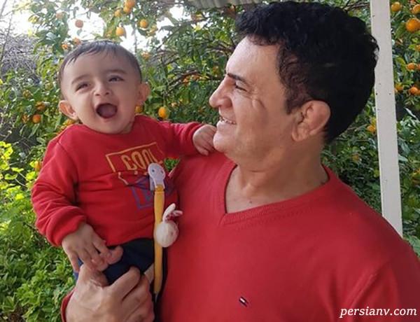 محمد بنا و پسرش بابک در کنار حمید سوریان قهرمان المپیک