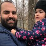 دختر بهداد سلیمی در آغوش پدرش با تبریک متفاوت روز دختر