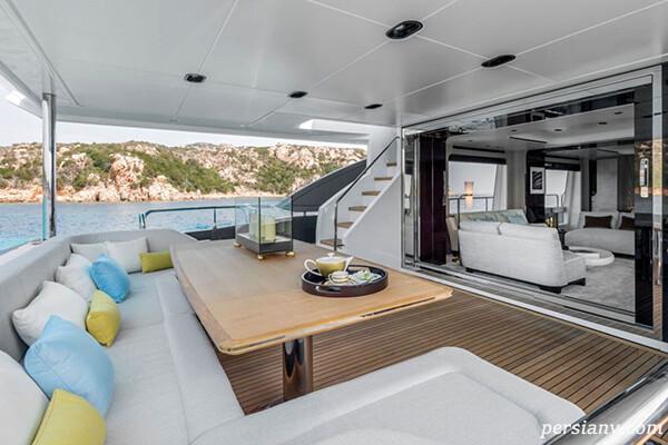کریستیانو رونالدو و جورجینا در قایق شیک 5.6 میلیون یورویی