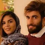 علی قلی زاده و همسرش یاسمن فرمانی فوتبالیست های ایرانی بلژیک