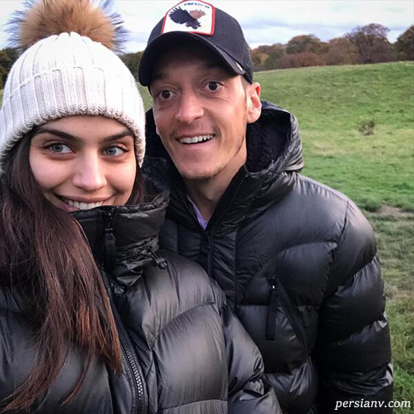 مسوت اوزیل و همسرش