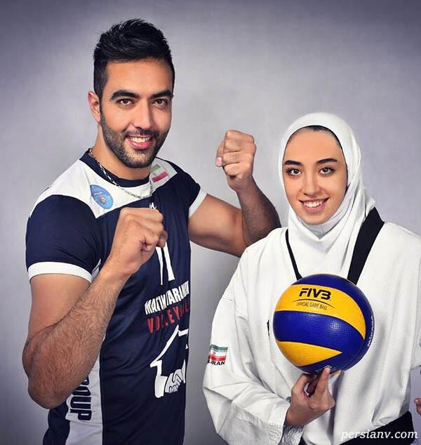 کیمیا علیزاده با همسرش