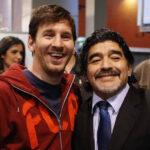 شادی پس از گل لیونل مسی سورپرایزی ویژه به یاد دیه گو مارادونا