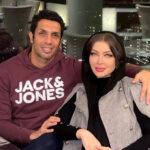 عکس سپهر حیدری و همسرش آرام جوینده در شب یلدا