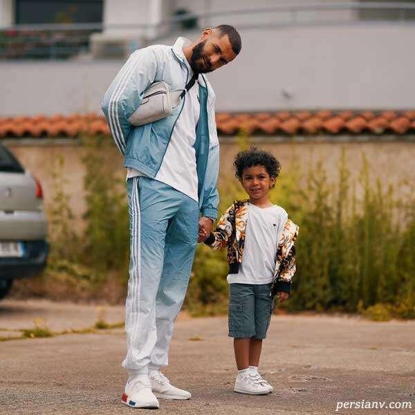 کریم بنزما و پسرش