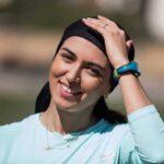 عکس فرزانه فصیحی دختر دونده ایرانی با مرد شماره یک تنیس جهان