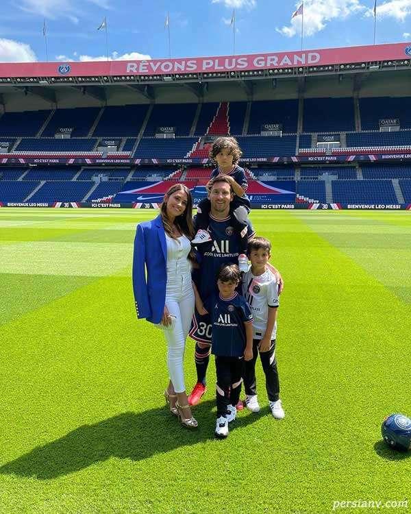 لیونل مسی و خانواده اش