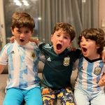 دوستان جدید پسران لیونل مسی ستاره آرژانتینی در پاریس