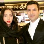 اشکان خطیبی در کنار نقاشی همسرش آناهیتا درگاهی + عکس