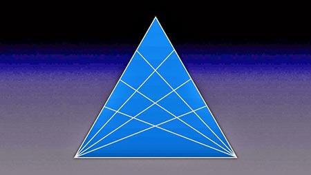 تعداد مثلث ها را بشمارید