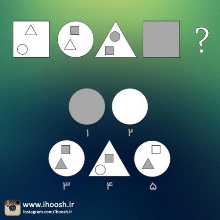 تست هوش مربع، مثلث و دایره