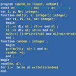 معمای ریاضی | متغیرها در زبان پاسکال
