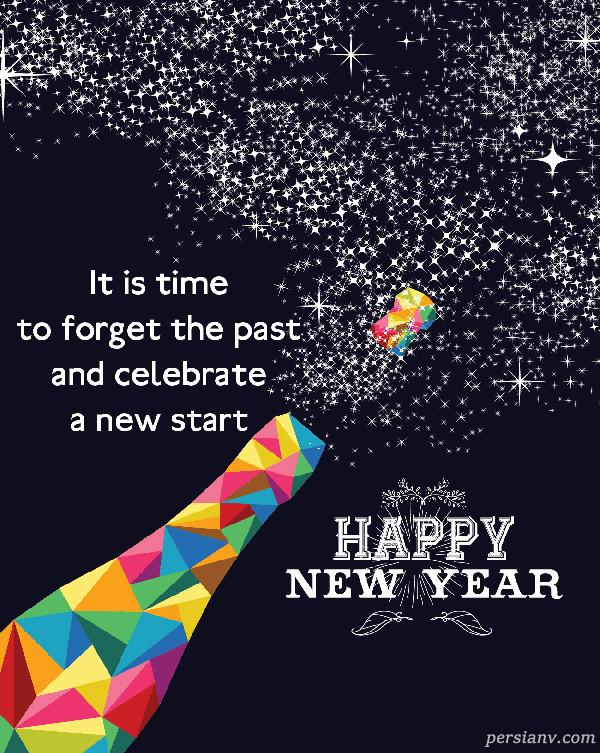 عکس نوشته انگلیسی سال نو