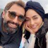 ست شال و شال گردن سمانه پاکدل و همسرش هادی کاظمی