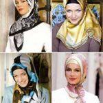 عکس:چگونه با روسری شیک و زیبا باشید