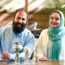 تصاویر جدید نرگس محمدی و علی اوجی تازه عروس و داماد سینمای ایران!