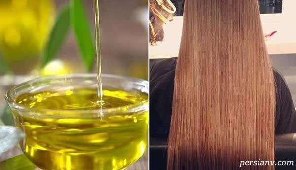 درمان موهای خشک با روغن زیتون