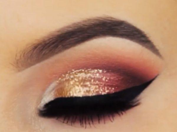 سایه چشم ملایم طلایی