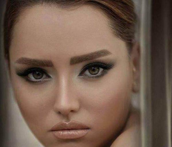 آرایش زیبا مخصوص صورتهای گرد