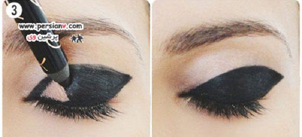 آرایش چشم زیبا با سایه