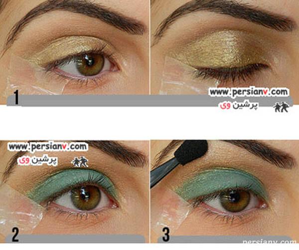 آرایش چشم با سایه ی سبز