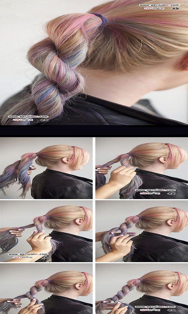 آموزش مدل موی بافت پیچ طنابی