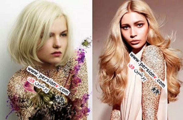 زیباترین رنگ موی بلوند
