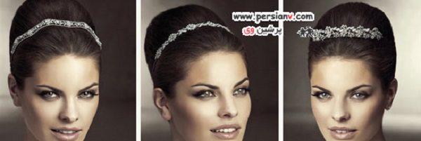 مدل های تاج و گل سر عروس