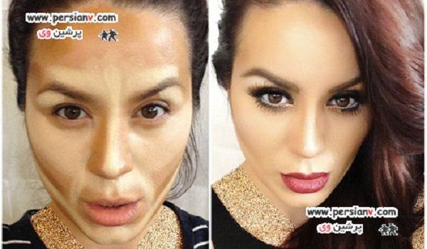 ۱۰ تغییر شگفت انگیز صورت با آرایش کانتورینگ +عکس قبل و بعد