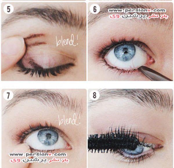 آموزش گام به گام آرایش چشم دودی