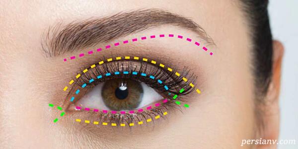 آرایش چشم بسیار زیبای آبی سرمه ای +آموزش مرحله به مرحله