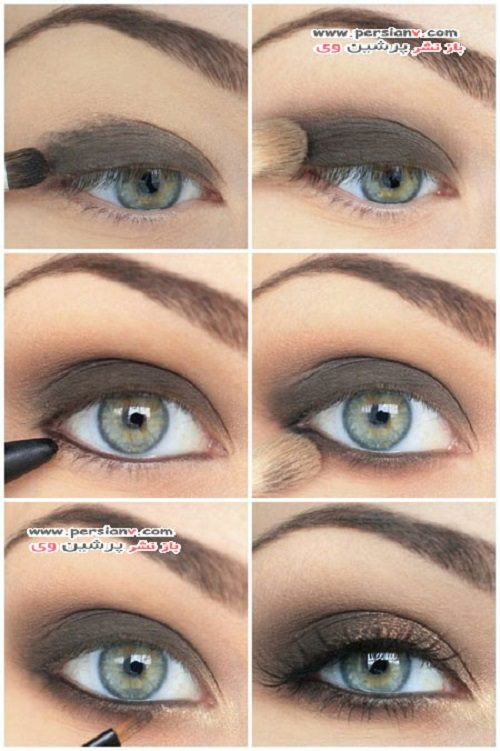 آرایش چشمان سبز