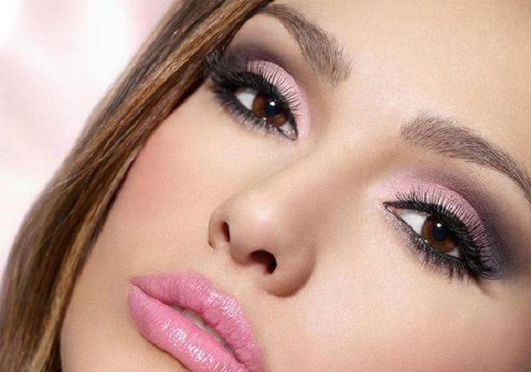 آرایش دودی صورتی چشم / آموزش ارایش تصویری سایه چشم+ تصاویر