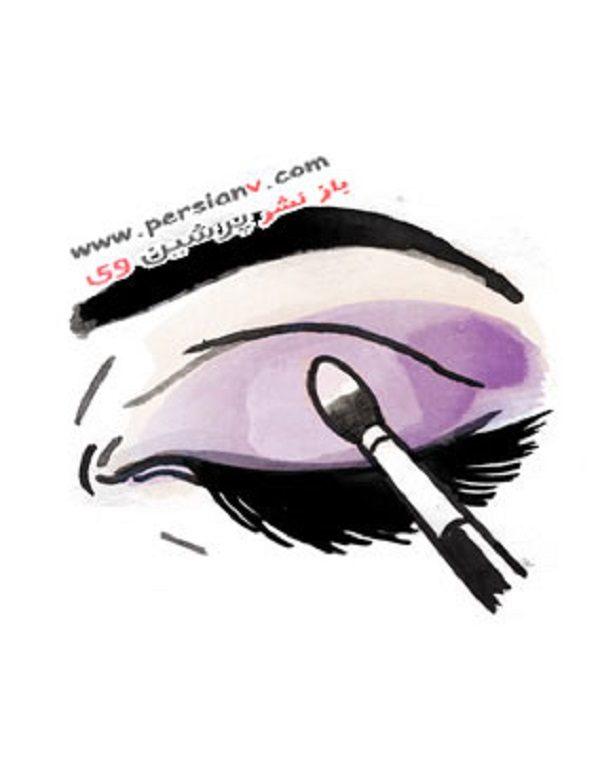 آرایش چشم برای مهمانی شب