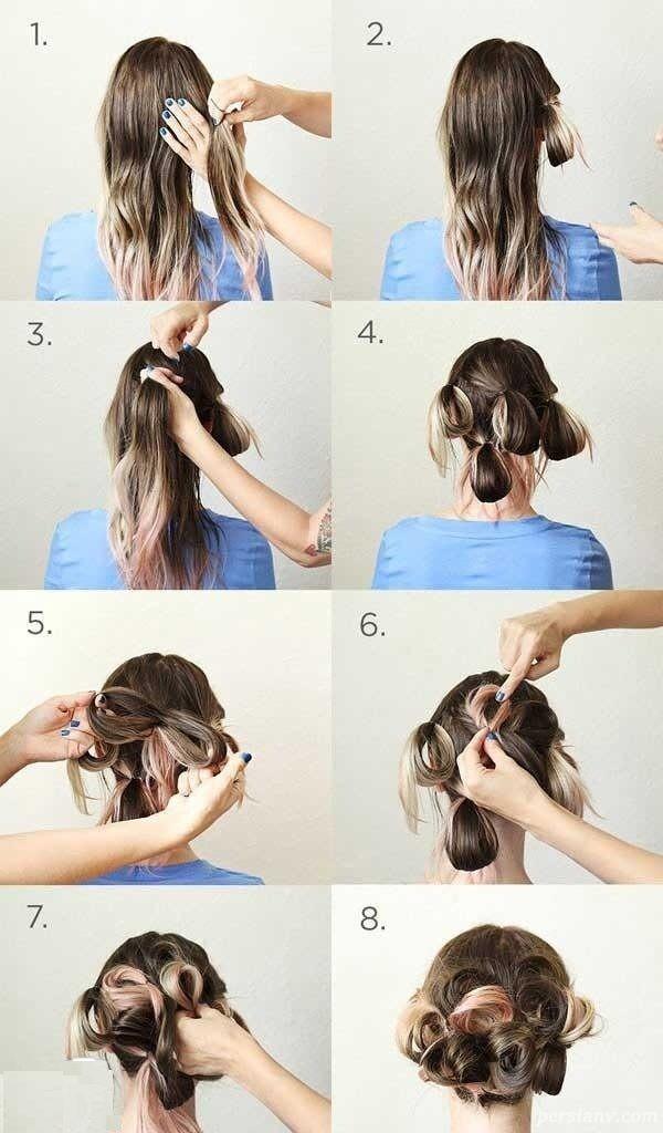 مدل مو بسیار ساده و شیک