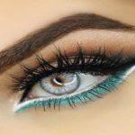 مدل آرایش چشم به رنگ دودی و آبی +(آموزش تصویری)