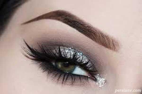 آرایش چشم با پولکهای تزئینی