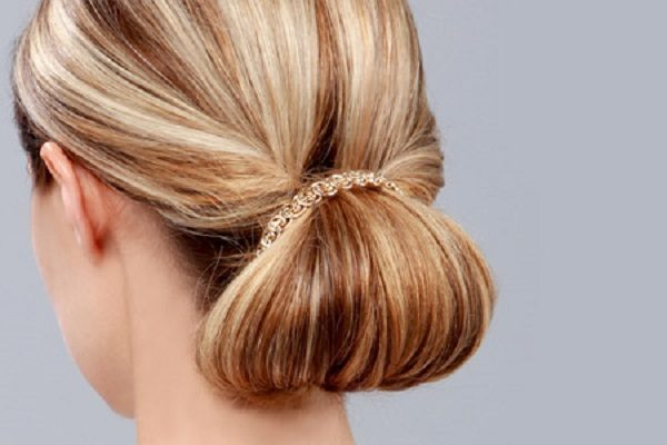 آموزش بستن مو مدل ساده و تزیین با گل