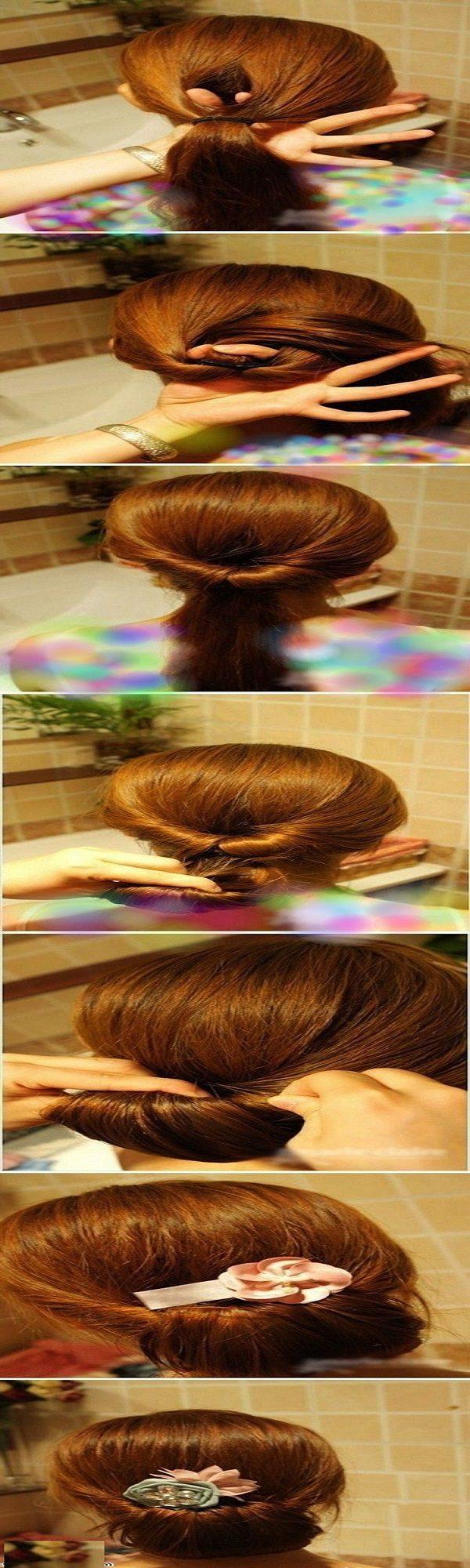 آموزش بستن مو مدل ساده