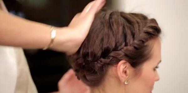 آموزش مدل موی جمع بافتی با موهای کوتاه +عکس