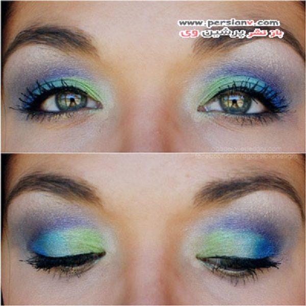آرایش چشم پر طاووسی