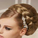 آموزش آرایش موی عروس بافت شده و بسته + تصاویر