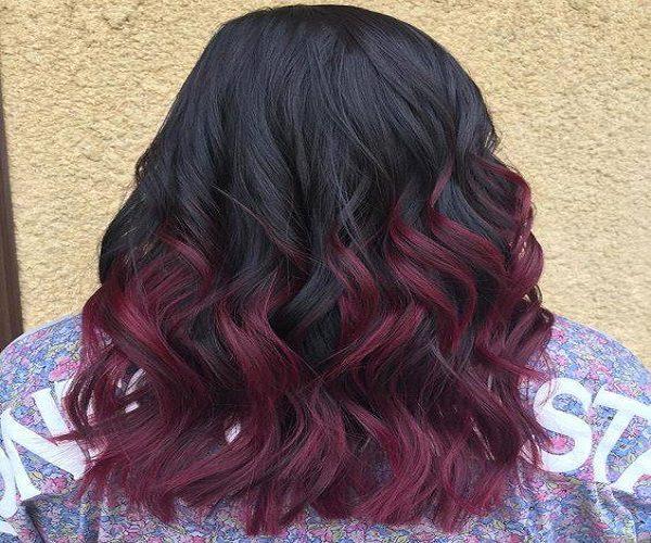 رنگ موی قهوه ای را چگونه مشکی – شرابی کنیم؟
