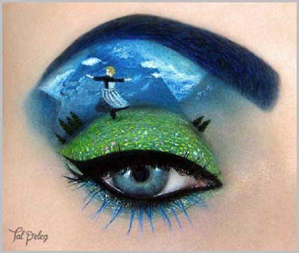 مدل آرایش چشم هنری