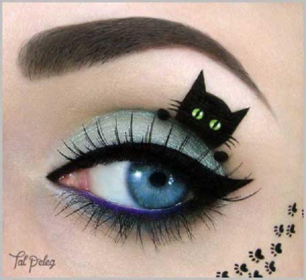 مدل آرایش چشم هنری | تصاویری از چند مدل آرایش چشم هنری و خلاقانه