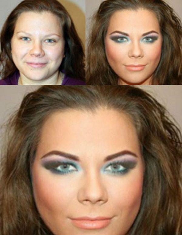 لاغر نشان دادن صورت با آرایش