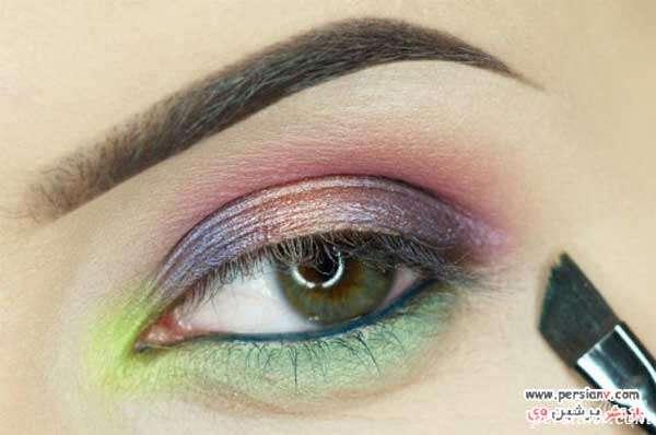 مراحل آرایش چشم گرمسیری