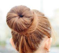 آموزش مدل موی دونات و بوکل پیچ یکطرفه + تصاویر